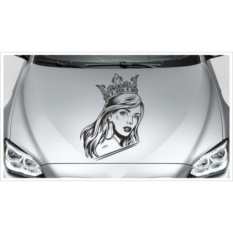Sugar Skull Catrina Königin Krone Dark Sexy Lady Aufkleber Auto Sticker Tattoo