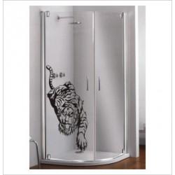 Glas Dekor Aufkleber Tiger Asia Kralle Tribal Tattoo Fenster, Lack & Glas