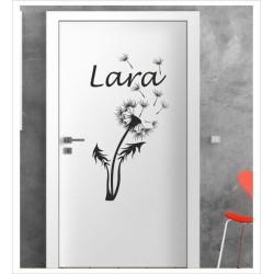 Pusteblume Löwenzahn Flieger Wunschname Wandaufkleber Aufkleber Tür Zimmer