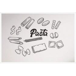 Pasta Nudeln Penne Lasagne Spagetti Maccheroni Cannelloni 11 x Aufkleber SET Wand Wandtattoo