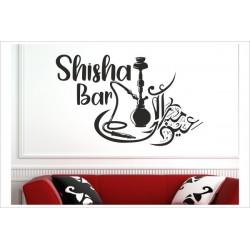 Shisha Lounge Rauchen Hookah Tabak Wandaufkleber Aufkleber Wand Wandtattoo