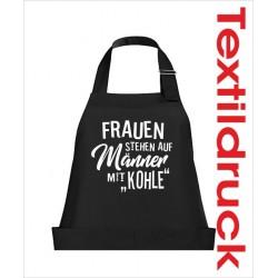 Schürzen KOCH & GRILL Frauen Männer mit Kohle Schürze Grillschürze Kochschürze Geschenk Fun