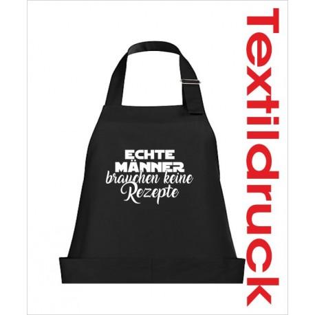 Schürzen KOCH & GRILL Männer brauchen kein Rezept Schürze Grillschürze Kochschürze Geschenk Fun