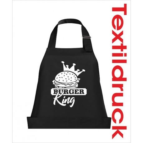 Schürzen KOCH & GRILL Burger King Grillen Männer Schürze Grillschürze Kochschürze Geschenk Fun