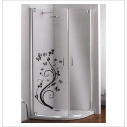Glas Dekor Aufkleber Baum Blüten Blumen Schmetterlinge  Tribal Tattoo Fenster, Lack & Glas