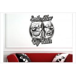 Poker Face Maske Spiel Karten Smile - Cry Wandaufkleber Wandtattoo Aufkleber Wand