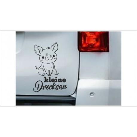 DUB FUN OEM JDM Aufkleber Mini FUN Drecksau Schwein Glück Schweinchen Auto Aufkleber Sticker