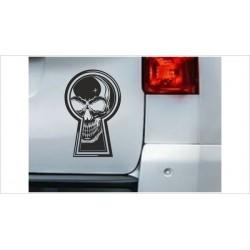 DUB FUN OEM JDM Aufkleber Mini Totenkopf Skull Schlüsselloch Auto Aufkleber Sticker