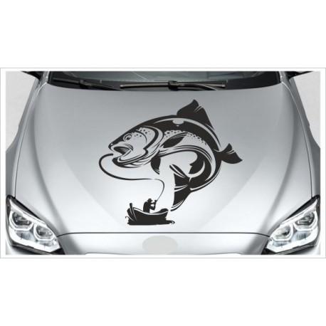 Aufkleber Offroad 4x4  Angler Boot Fisch Fischen Auto Car Wohnmobil Sticker