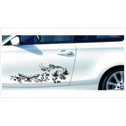 Aufkleber SET Car Style Tattoo Blumen Ranke Dekor Blüten Fahrzeuge Seitenaufkleber