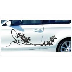 Aufkleber SET Car Style Tattoo Blumen PIN Ranke Dekor Blüten Fahrzeuge Seitenaufkleber