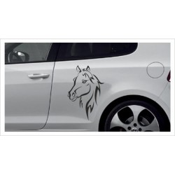 Aufkleber SET Car Style Tattoo Pferde Dekor Stute Hengst Fohlen Fahrzeuge Seitenaufkleber