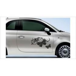 Aufkleber SET Car Style Tattoo Blumen Schmetterling Ranke Dekor Blüten Fahrzeuge Seitenaufkleber