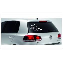 Pin Butterfly Dekor Aufkleber Tattoo Auto Car Style Tuning Heckscheibe Lack & Glas