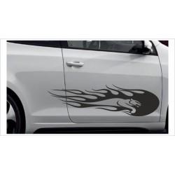 Aufkleber SET Car Style Tattoo Tribal Graffiti Feuer Flame Leopard Gepard Fahrzeuge Seitenaufkleber