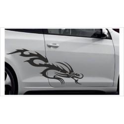 Aufkleber SET Car Style Tattoo Tribal Graffiti Drache Dragon Fahrzeuge Seitenaufkleber