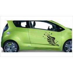 Aufkleber SET Car Style Tattoo Tribal Engel Flügel Schutzengel Fahrzeuge Seitenaufkleber