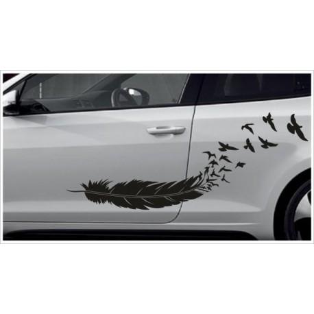 Aufkleber SET Car Style Tattoo Tribal Vogel Feder Federn Möwe Schwalbe Fahrzeuge Seitenaufkleber