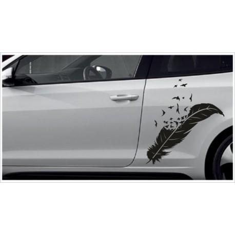 Aufkleber SET Car Style Tattoo Tribal Vogel Feder Federn Möwen Schwalbe Fahrzeuge Seitenaufkleber
