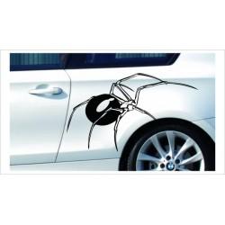 Aufkleber SET Car Style Tattoo Tribal Spinne Spider Netz Fahrzeuge Seitenaufkleber
