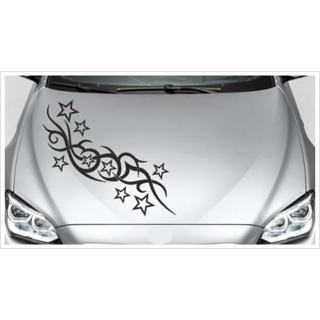 Aufkleber Motorhaube Tattoo Sterne Stars Tribal Autoaufkleber Tattoo Auto Car