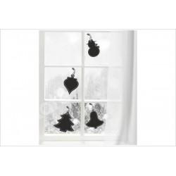 X-MAS Aufkleber Fenster Glocke Tanne Engel Stern Fröhliche Weihnachten Merry Christmas Wandaufkleber Wandtattoo Fenster