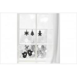 X-MAS Aufkleber Fenster Backen Lebkuchen Kekse Fröhliche Weihnachten Merry Christmas Wandaufkleber Wandtattoo Fenster