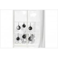 X-MAS Aufkleber Fenster 6x Weihnachtskugel Kugel Schmuck Fröhliche Weihnachten Merry Christmas Wandaufkleber Wandtattoo Fenster