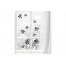 X-MAS Aufkleber Fenster 10x Schneeflocke Schnee Fröhliche Weihnachten Merry Christmas Wandaufkleber Wandtattoo Fenster