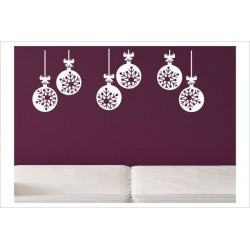 X-MAS Aufkleber Fenster 10x Kugel  Fröhliche Weihnachten Merry Christmas Wandaufkleber Wandtattoo Fenster