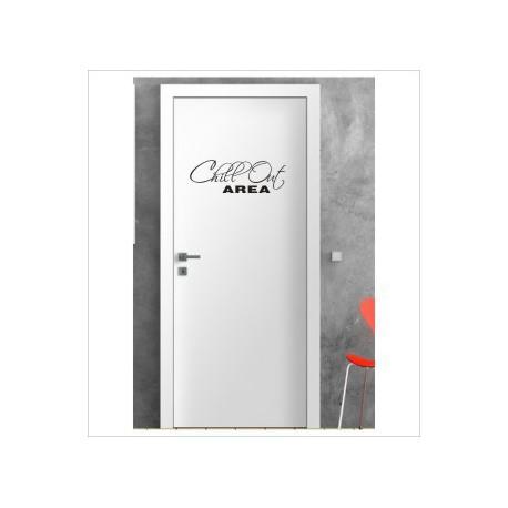 Chill Out Arena Wandaufkleber Aufkleber Tür Zimmer Schriftzug Schlafzimmer