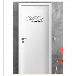 Chill Out Zone Wandaufkleber Aufkleber Tür Zimmer Schriftzug Entspannen Chillen Abhängen Relax