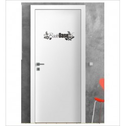 Bade Oase Wandaufkleber Aufkleber Tür Zimmer Schriftzug Bad Spa Wellness Erholung