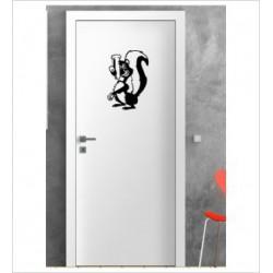 Stinktier Wandaufkleber Aufkleber Tür Zimmer Schriftzug Bad Spa Comic Fun
