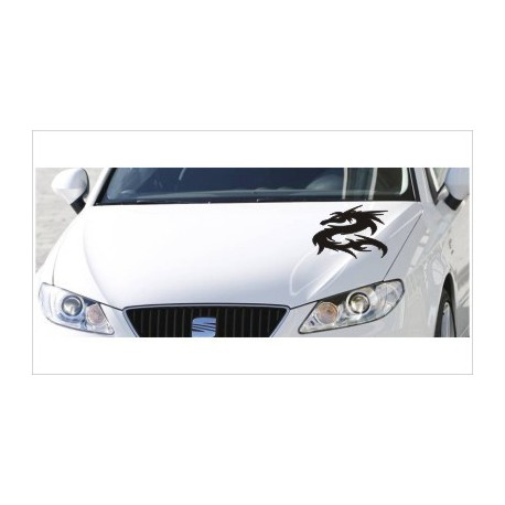 Motorhauben Aufkleber Auto Drache Asia Dragon Tattoo Tribal Sticker Lack & Glas