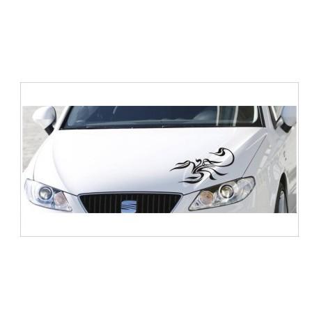 Motorhauben Aufkleber Auto Skorpion Tattoo Tribal Sticker Lack & Glas