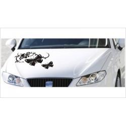 Motorhauben Aufkleber Auto Schmetterling Dekor Tattoo Tribal Sticker Lack & Glas