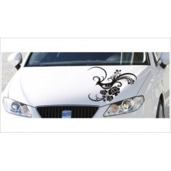 Motorhauben Aufkleber Auto Vogel Dekor  Tattoo Tribal Sticker Lack & Glas