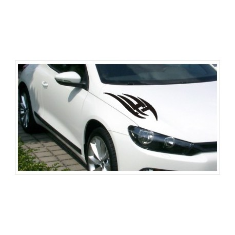 Motorhauben Aufkleber SET  Auto  2x  Tattoo Dekor  Tribal Sticker Lack & Glas