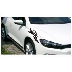 Motorhauben Aufkleber SET Auto 2x Tattoo Dekor Tribal Sticker Lack & Glas