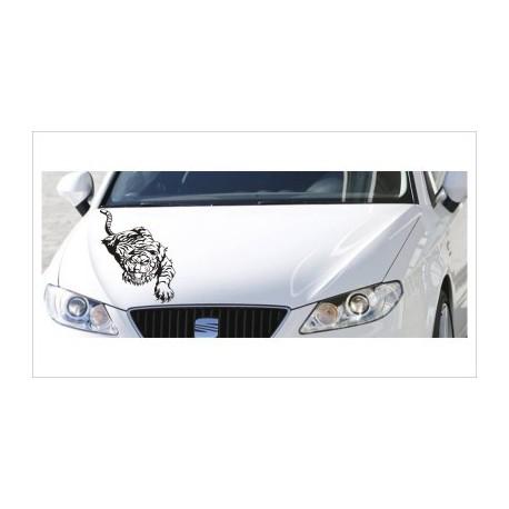 Motorhauben Aufkleber Auto Asia Tiger Krallen Tattoo Sticker Lack & Glas