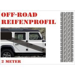 Aufkleber Reifenspur Offroad 4x4 Reifenprofil  Profil 4