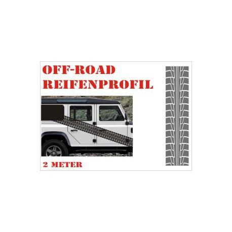 Aufkleber Reifenspur Offroad 4x4 Reifenprofil  Profil 6