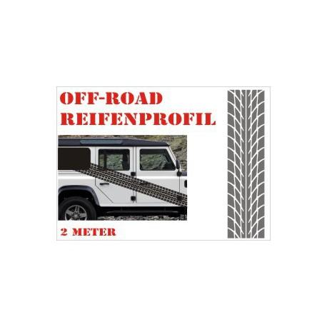 Aufkleber Reifenspur Offroad 4x4 Reifenprofil  Profil 7