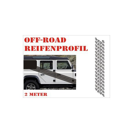 Aufkleber Reifenspur Offroad 4x4 Reifenprofil  Profil 8