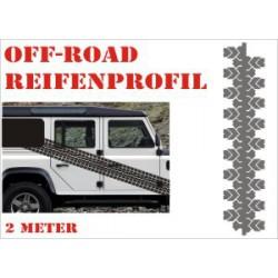 Aufkleber Reifenspur Offroad 4x4 Reifenprofil  Profil 9
