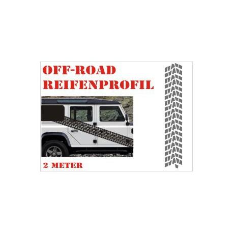 Aufkleber Reifenspur Offroad 4x4 Reifenprofil  Profil 10
