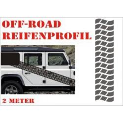 Aufkleber Reifenspur Offroad 4x4 Reifenprofil  Profil 11