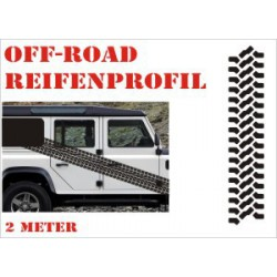 Aufkleber Reifenspur Offroad 4x4 Reifenprofil  Profil 12