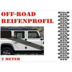 Aufkleber Reifenspur Offroad 4x4 Reifenprofil Profil 14